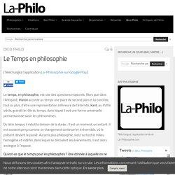 Le Temps en philosophie