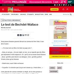Le test de Bechdel-Wallace