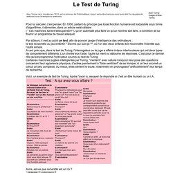 Le test de Turing