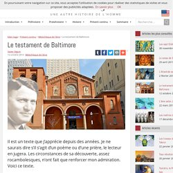 Le testament de Baltimore