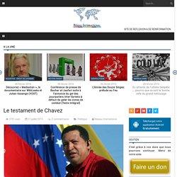 Le testament de Chavez