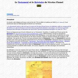 Le Testament de Nicolas Flamel