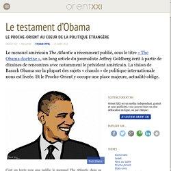 Le testament d'Obama