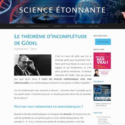 Le théorème d'incomplétude de Gödel