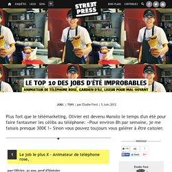 Le top 10 des jobs d'été improbables