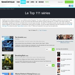 Le Top 111 séries