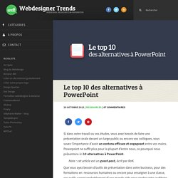 Le top 10 des alternatives à PowerPoint