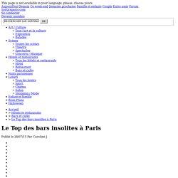 Le Top des bars insolites à Paris
