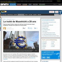 Le traité de Maastricht a 20 ans