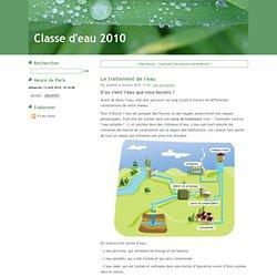Le traitement de l'eau - Classe d'eau 2010