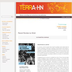 Le travail du commun - Terra-HN