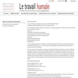 Le Travail humain » Présentation