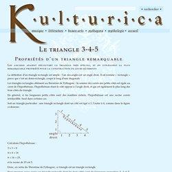 Le triangle 3-4-5