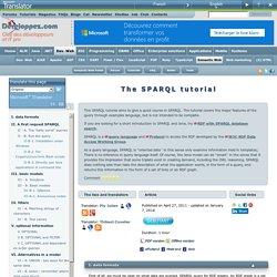 Le tutoriel SPARQL