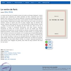 Le ventre de Paris - Zola, Emile