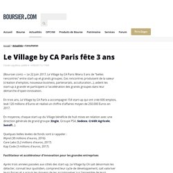 Le Village by CA Paris fête 3 ans