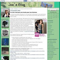 Le viol n'est pas une honte pour les femmes - Joe's blog