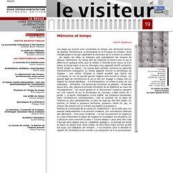 Le visiteur - Revue d'architecture
