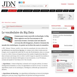Le vocabulaire du Big Data - JDN
