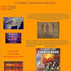 Le volcan du Vésuve.
