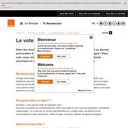 Le vote en ligne