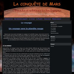 Le voyage - La conquête de Mars