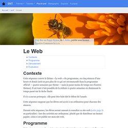 Le Web — SNT