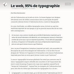Le web, 95% de typographie