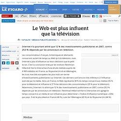 Médias : Le Web est plus influent que la télévision