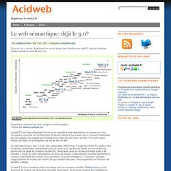 Innovation web » Le web sémantique: déjà le 3.0?