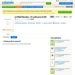Le Web2 Renadoc - 21 outils pour le CDI
