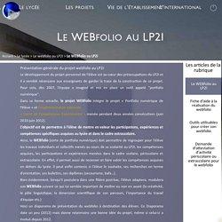Le WEBfolio au LP2I