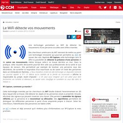 Le WiFi détecte vos mouvements