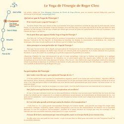 Le Yoga de l'Energie - Roger Clerc