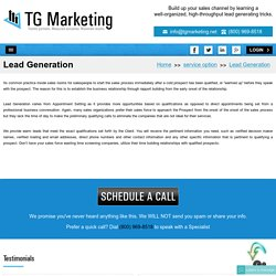Sales Lead Generation - Make Your Business Profit With TG Marketing USA