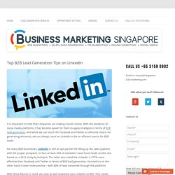 Top B2B Lead Generation Tips on LinkedIn
