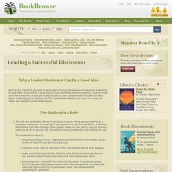 How to lead a successful book club discussion