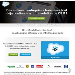 Le Leader du CRM et du Cloud Computing - salesforce.com France