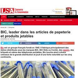 BIC, leader dans les articles de papeterie et... - Papeterie