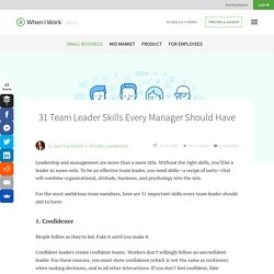 31 Team Leader Skills Every Manager Should Have - When I Work