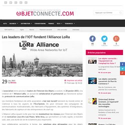 Les leaders de l'IOT fondent l'Alliance LoRa