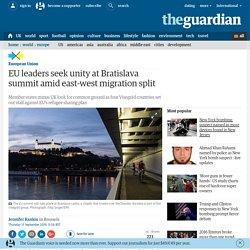 EU leaders seek unity at Bratislava summit amid east-west migration split