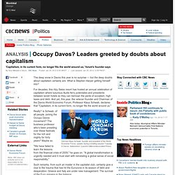 Occupy Davos? Leaders greeted by doubts about capitalism - Politics