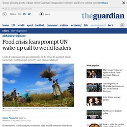 Food crisis fears prompt UN wake-up call to world leaders