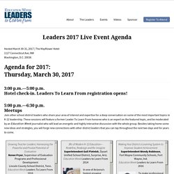 Leaders 2017 Live Event Agenda - Education Week Leaders To Learn From