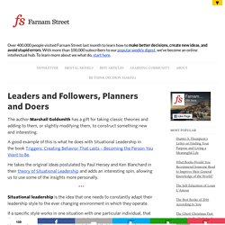 Leaders and Followers, Planners and Doers