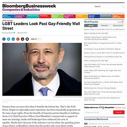 LGBT Leaders Look Past Gay-Friendly Wall Street