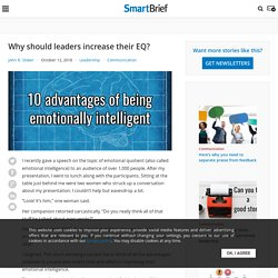 Why should leaders increase their EQ?
