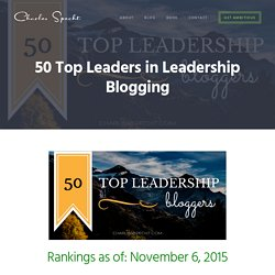 The 50 Top Leaders in Leadership Blogging