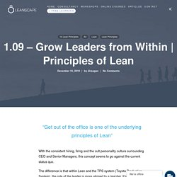 Principles of Lean-Grow Leaders from Within